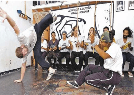 Chad Fishwick doing capoeira