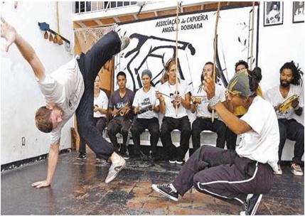Chad Fishwick doing capoeira
