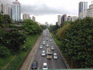 Traffic in São Paulo is notoriously bad. Not pictured: bad traffic.