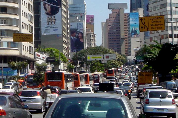 Traffic congestion in Sao Paulo (Consolação)