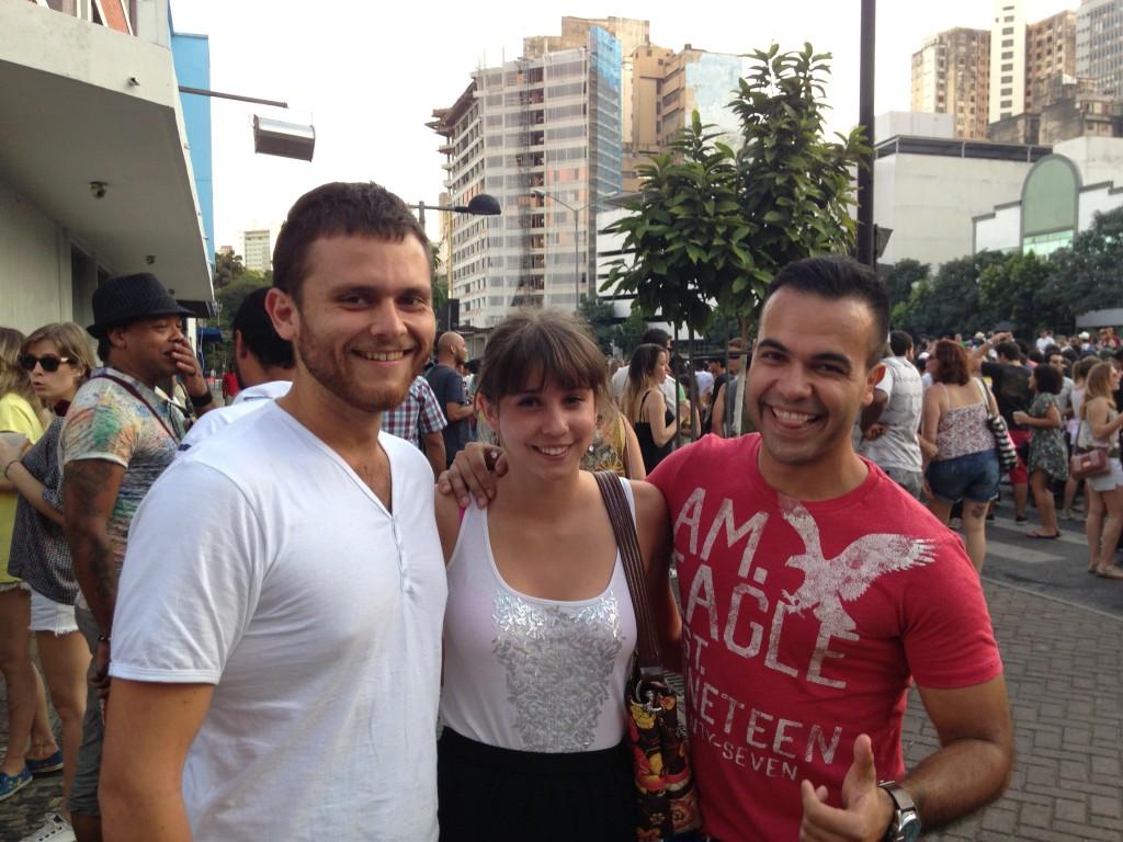 Randomly meeting readers Ashley and Jonathan in Belo Horizonte