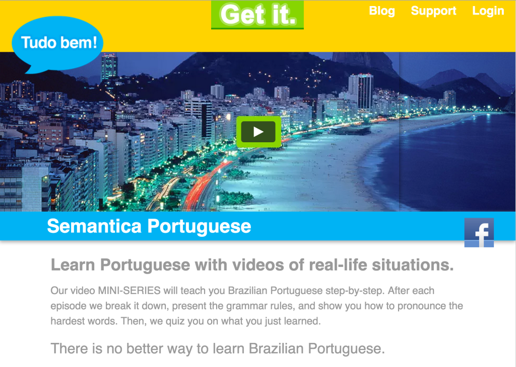take portuguese classes with semantica