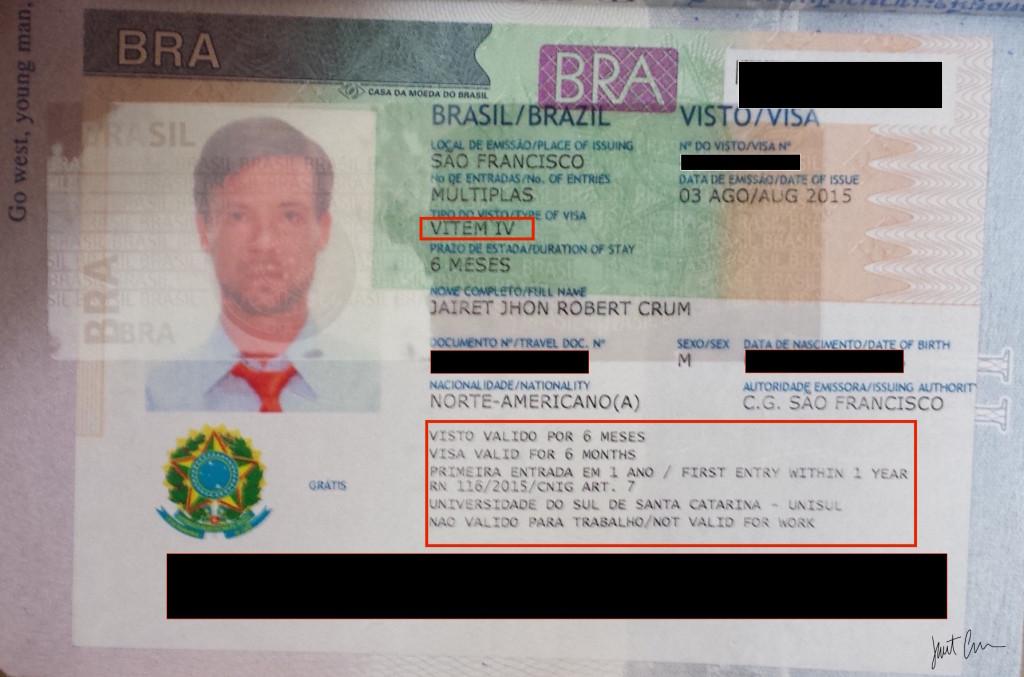 Brazilian student visa