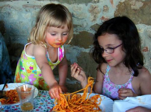 compartilhando comida